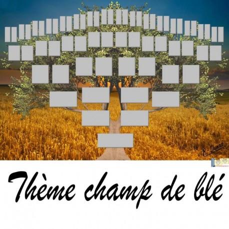 Présentation du Thème Champ de blé - Arbre ascendant vierge 6 générations