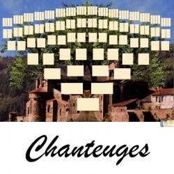 Chanteuges - Arbre ascendant vierge 7 générations