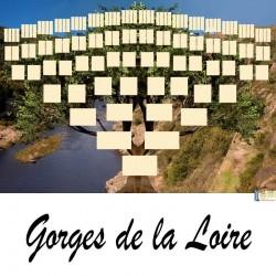 Gorges de la Loire - Arbre ascendant vierge 7 générations