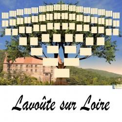 Lavoute sur Loire - Arbre ascendant vierge 7 générations