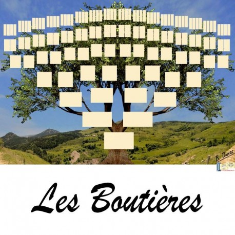 Présentation Les Boutières - Arbre ascendant vierge 7 générations