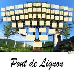 Pont de Lignon - Arbre ascendant vierge 7 générations