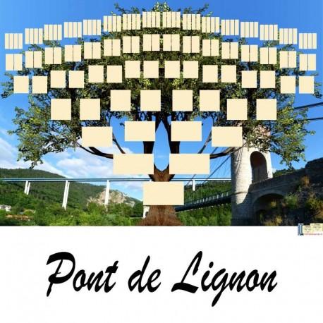 Présentation Pont de Lignon - Arbre ascendant vierge 7 générations