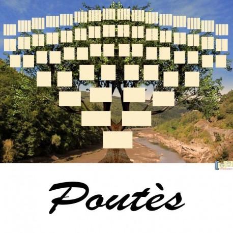 Présentation Poutès - Arbre ascendant vierge 7 générations