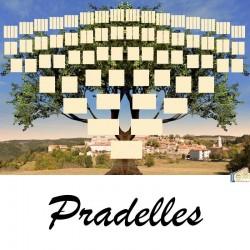 Pradelles - Arbre ascendant vierge 7 générations