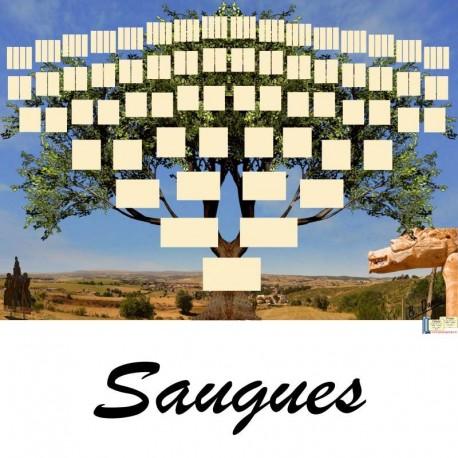 Présentation Saugues - Arbre ascendant vierge 7 générations