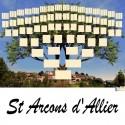 St Arcons d'Allier - Arbre ascendant vierge 7 générations