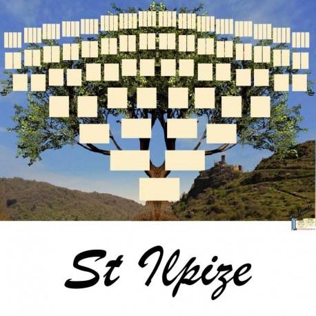 Présentation Saint Ilpize - Arbre ascendant vierge 7 générations