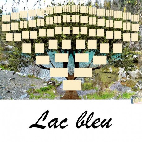 Présentation Lac bleu - Arbres ascendants vierges 7 générations