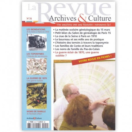 La revue d'Archives & Culture n°31