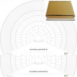 Ascendance en arc de cercle - sur deux feuilles - 9 générations