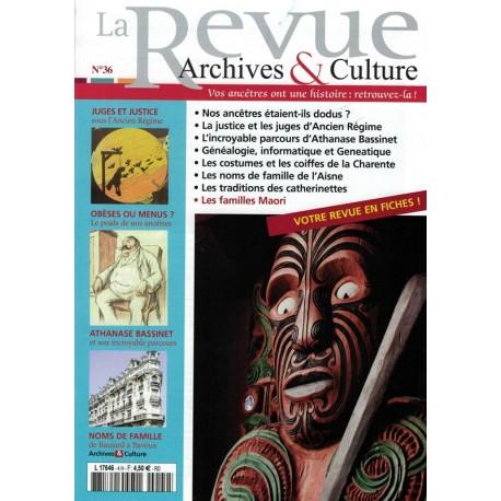 La revue d'Archives & Culture n°36
