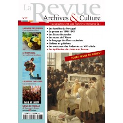 La revue d'Archives & Culture n°37