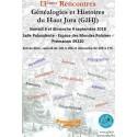 XIII° rencontre Généalogique et Histoire du Haut-Jura